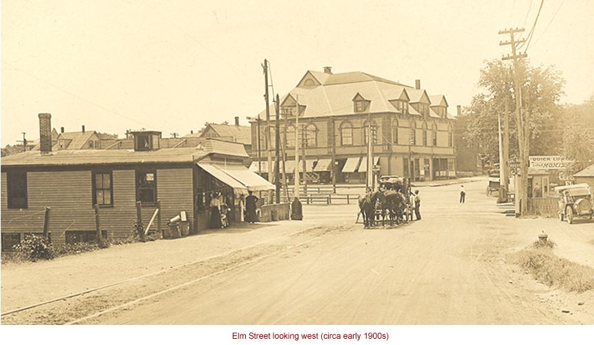 Elm Street looking west (circa early 1900s)