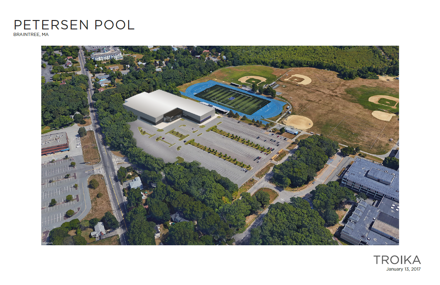 Overhead bird eye's view of the Petersen Pool