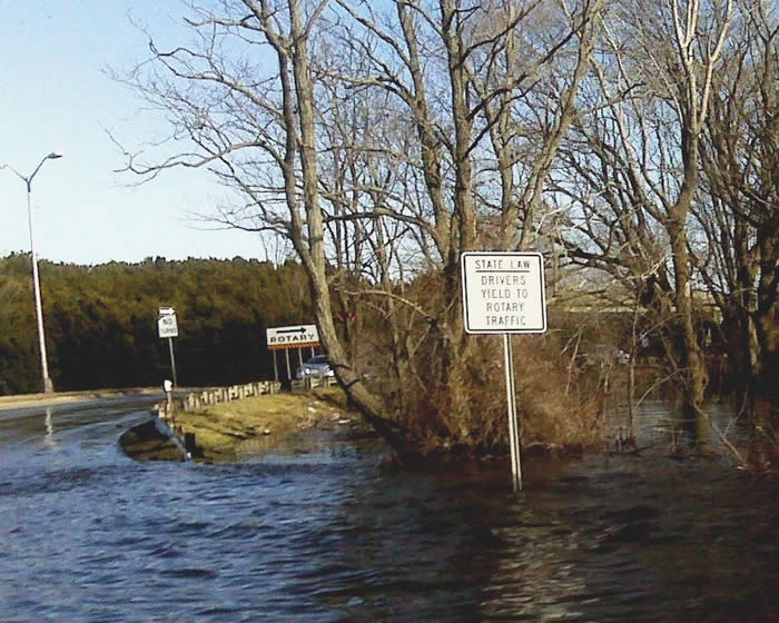 Union Street Rotary During March 2010 Flood