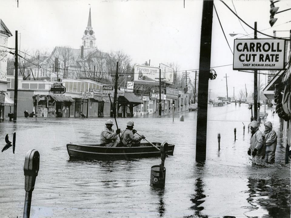 Flooding in Weymouth Landing, 1968